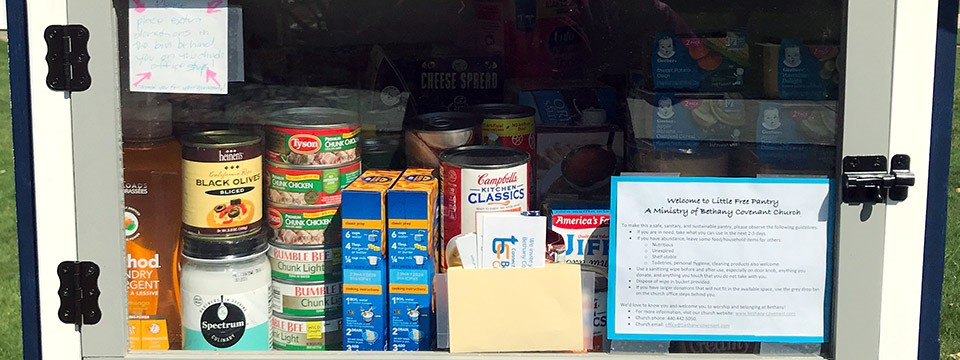 Bethany Covenant Church Little Free Pantry Available for Community Use