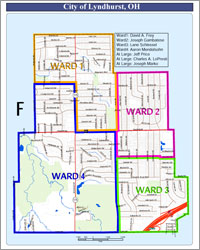 Ward Map<br>City of Lyndhurst, Ohio